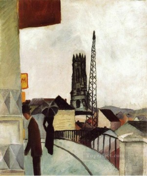Cathedral at Freiburg Swit August Macke Oil Paintings